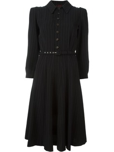 Jean Paul Gaultier Pre-Owned платье в тонкую полоску с поясом