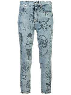 Haculla джинсы с принтом с необработанными краями