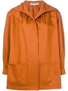 Yves Saint Laurent Pre-Owned куртка свободного кроя с потайной застежкой спереди