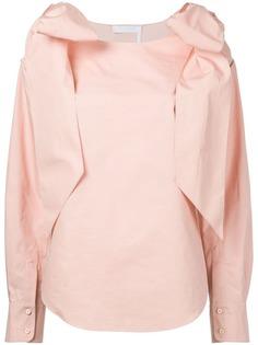 Chloé блузка с бантами на плечах