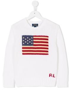 Ralph Lauren Kids свитер с флагом США