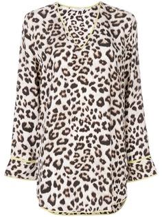 Equipment блузка с леопардовым принтом