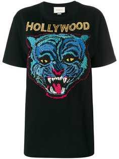 Gucci футболка с вышивкой