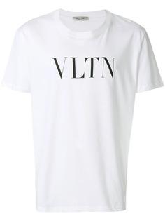 Valentino футболка с принтом слогана