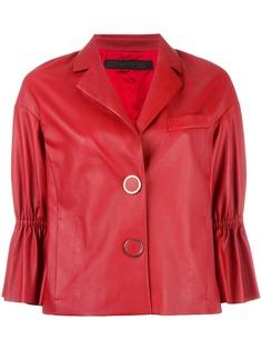 Drome куртка с рукавами три четверти и оборками