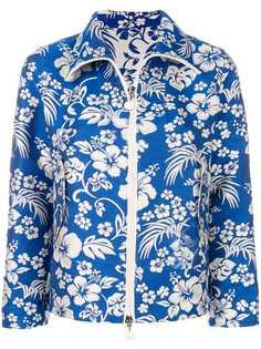 Moncler укороченная куртка с цветочным принтом