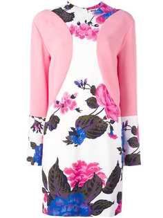 MSGM платье с цветочным принтом