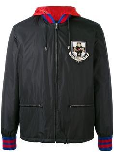 Gucci куртка-бомбер с капюшоном