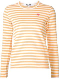 Comme Des Garçons Play полосатая футболка с вышивкой сердца