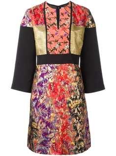 Etro жаккардовое платье с цветочным узором