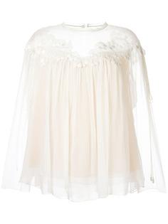 Chloé блузка свободного кроя