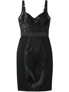 Dolce & Gabbana платье-бюстье с кружевной панелью