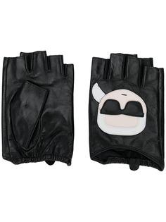 Karl Lagerfeld перчатки без пальцев Ikonic