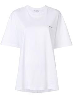 Balenciaga футболка-кокон с принтом логотипа