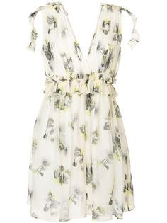 MSGM платье мини с цветочным принтом