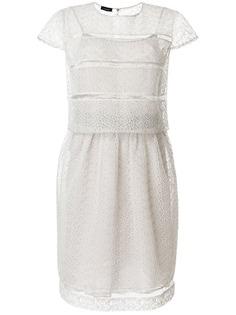 Emporio Armani полупрозрачное платье с вышивкой ришелье