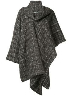 Issey Miyake Pre-Owned трикотажное пальто в клетку