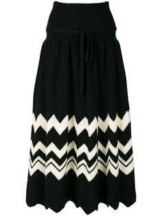 Comme Des Garçons Pre-Owned вязаная юбка с зигзагообразным узором