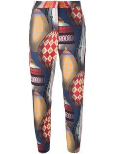 MSGM брюки с принтом