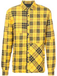 Mostly Heard Rarely Seen стеганая куртка-рубашка в клетку