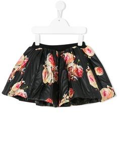 CAROLINE BOSMANS kids пышная юбка с цветочным рисунком