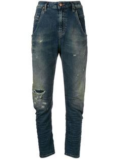 Diesel джинсы узкого кроя с выцветшим эффектом