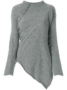 Comme Des Garçons Pre-Owned вязаная блузка асимметричного кроя