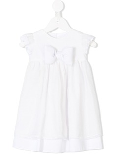 La Stupenderia расклешенное кружевное платье с бантом
