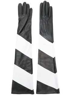 Manokhi длинны перчатки с контрастными панелями