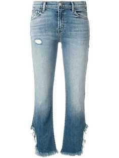 J Brand укороченные джинсы с бахромой