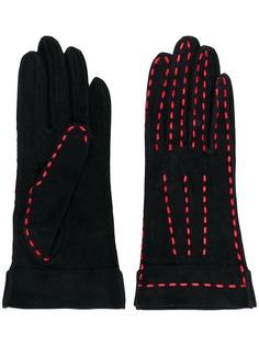 Chanel Pre-Owned перчатки со строчкой
