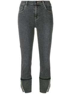 J Brand укороченные джинсы с разрезами
