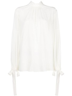 Prada плиссированная блузка