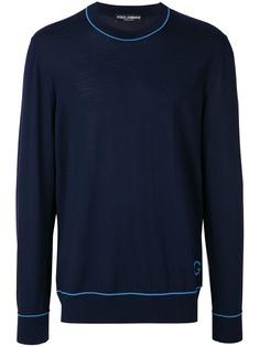 Dolce & Gabbana свитер с контрастной окантовкой