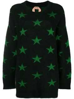 Nº21 свитер со звездным узором интарсия