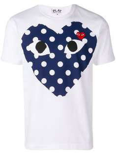Comme Des Garçons Play футболка с сердцем