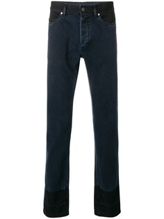 Lanvin двухцветные джинсы кроя слим