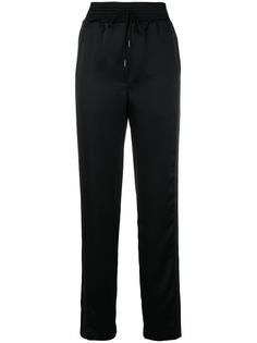 Off-White брюки с завышенной талией и шнурком