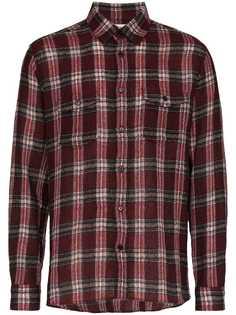 Saint Laurent рубашка в клетку