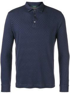 Zanone рубашка-поло с длинными рукавами