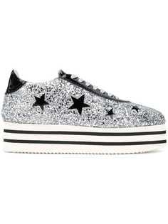 Chiara Ferragni кроссовки на платформе с декором в виде звезд
