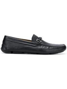 Giorgio Armani logo pendant loafers