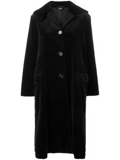 Aspesi вельветовое однобортное пальто