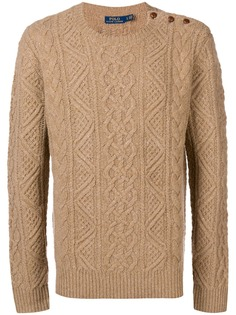 Ralph Lauren приталенный свитер вязки с косичками