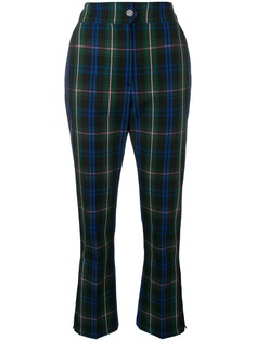 MSGM укороченные брюки с узором тартан