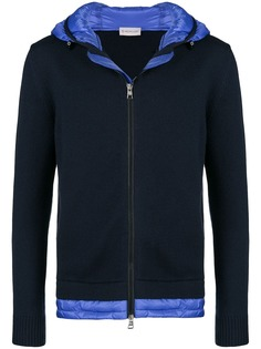 Moncler padded panel zip front hoodie