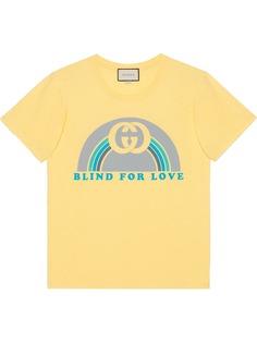 Gucci футболка в стиле оверсайз с радужным принтом