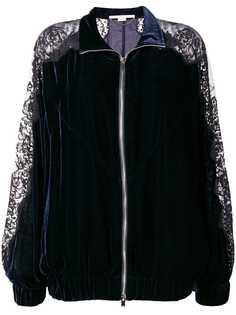 Stella McCartney куртка-бомбер с кружевными панелями