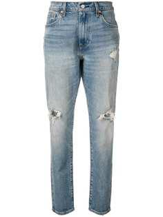 Levis состаренные прямые джинсы