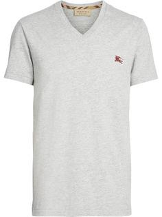 Burberry футболка джерси c V-образным вырезом